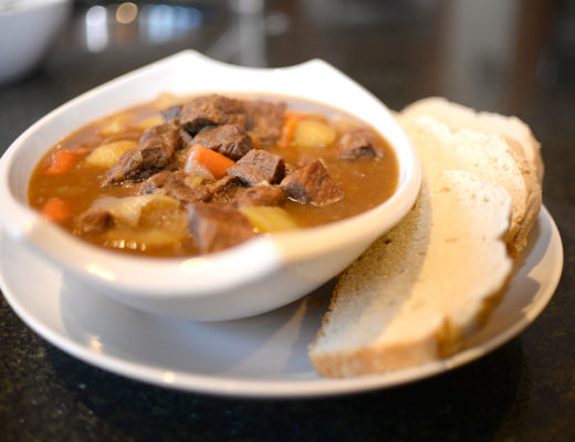 Beef, vegetable and potatoe stew made by Rosemarie Aquilina, Judge of the 30th circuit court in Ingham Country.