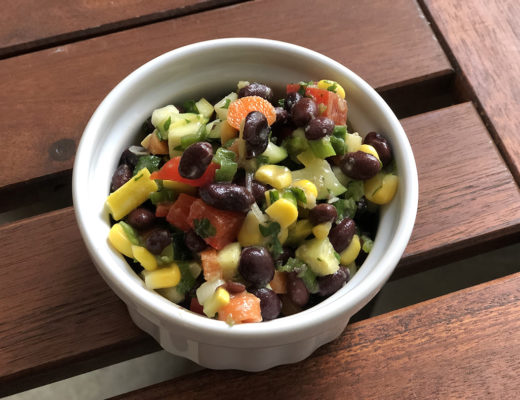 black bean and vegetable salad