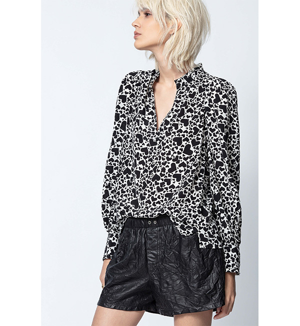 Zadig & Voltaire heart blouse