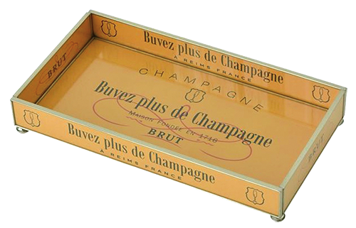 Brut Champagne tray from Found Objects