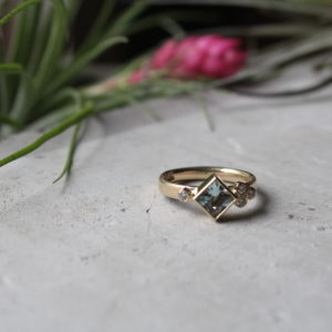 Aquamarine Alternative Engagment Ring