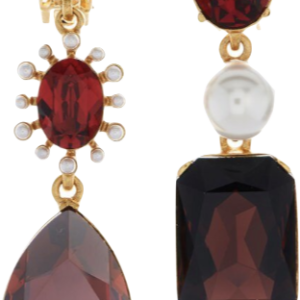 Oscar de la Renta mixed jewel earrings