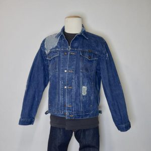 Men's Vintage Wrangler Jacket with Sashiko & Boro Patching