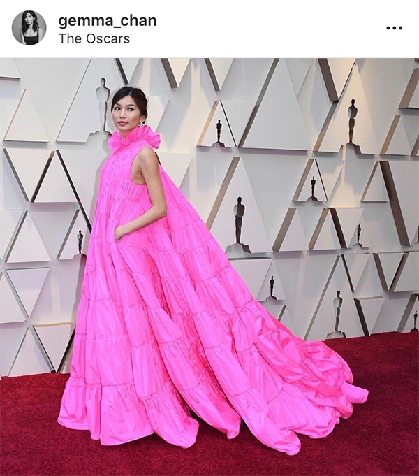 Gemma Chan at the 2019 Academy Awards