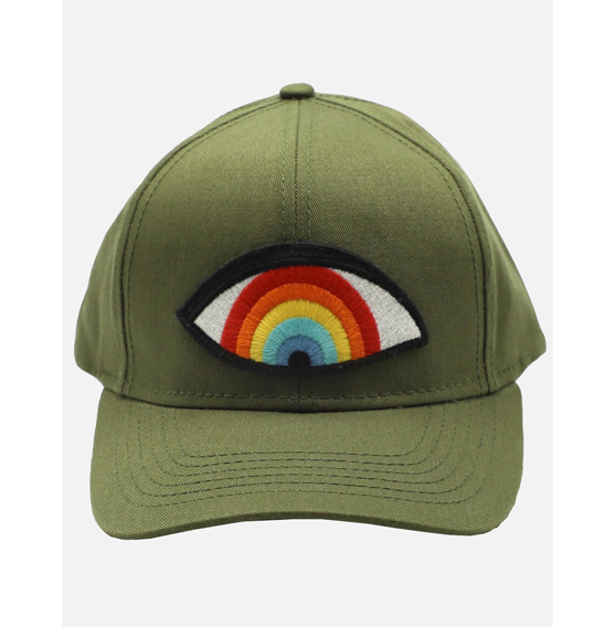 Lauren Moshi rainbow eye baseball cap from 110 Couture