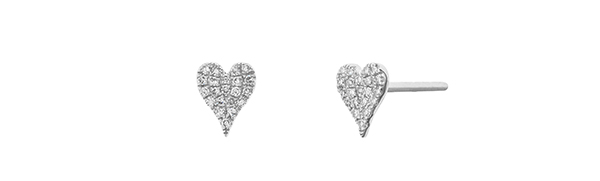 Tapper's Jewelry diamond heart earrings