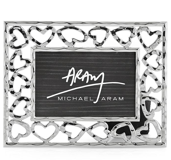 Michael Aram heart frame, $115, Found Objects