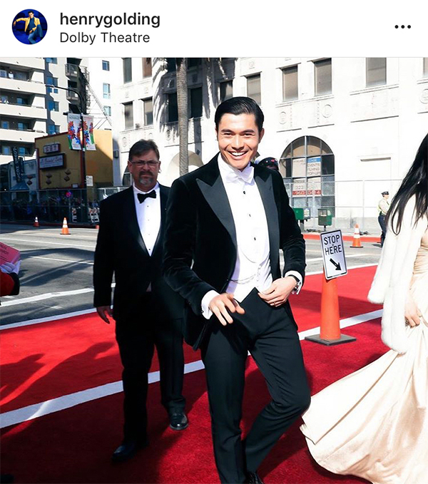 Henry Golding at the 2019 Academy Awards