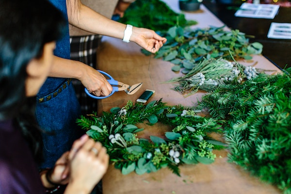 Freesia Collective's Holiday Wreath Workshop