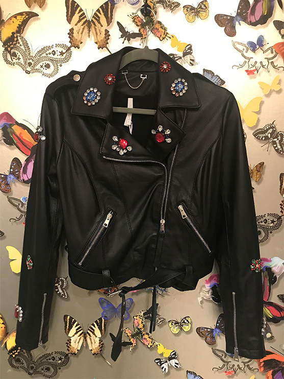 leather motorcycle jacket from 110 couture