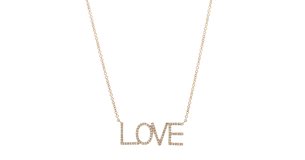 Tapper's Jewelry diamond LOVE necklace