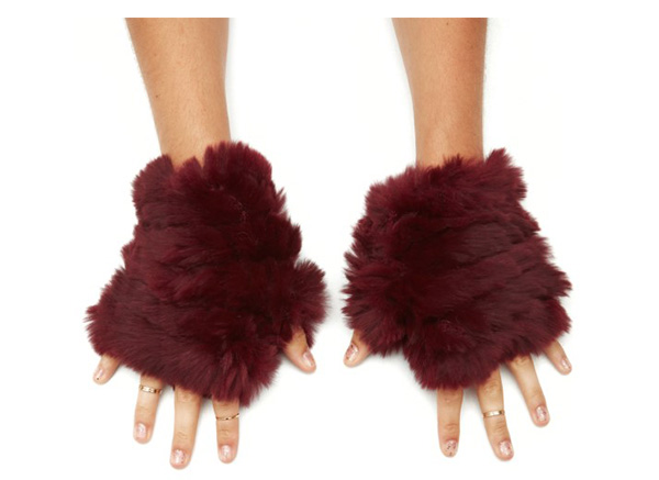 Jocelyn fur mittens