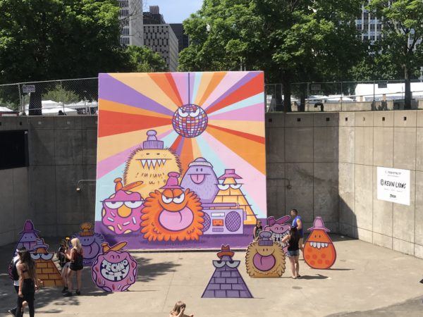 Kevin Lyon's mural at Movement festival