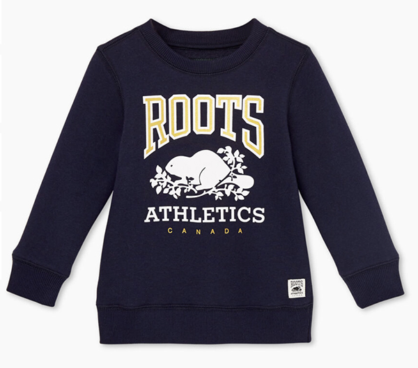 Toddler RBA crew sweatshirt, $38, Roots Birmingham