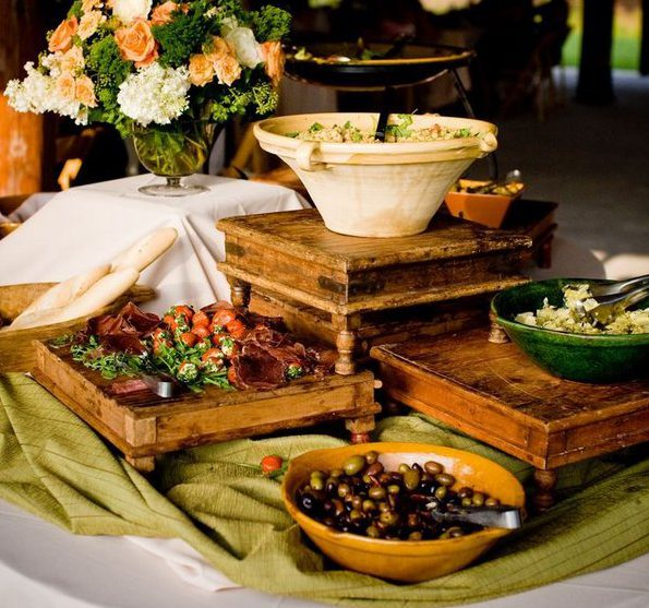 Round Table Lunch Buffet.Round Table Lunch Buffet Decorating Ideas Vertical Arrangement Food