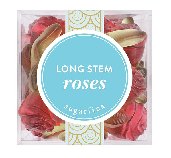 Sugarfina long stem roses, $8, Found Objects
