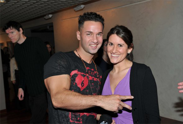 "Nicole Mazur with Mike ""The Situation"""