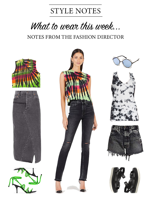 what to wear this week: tie dye