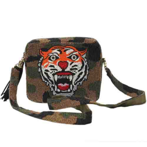 Tiana Tiger Beaded Bag