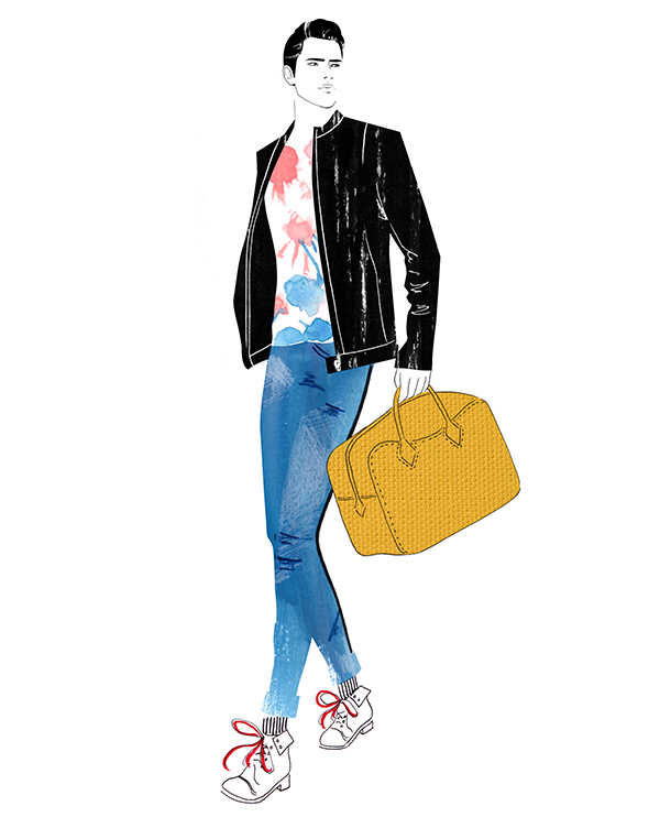 Metro Detroit men's style guide illustration by Nicole Jarecz