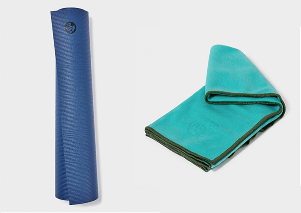 Manduka travel mat and yoga towel